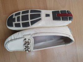 Prada Pantofel srebrny-w kolorze białej wełny