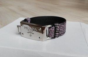 Prada Leather Bracelet silver-colored-grey lilac