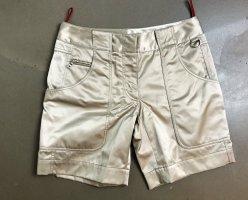 * PRADA * NEU ! Shorts hellbeige glänzend Polyamid  Gr it. 40 / D 34 XS