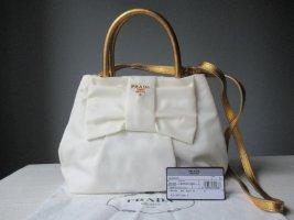 Prada Nylon Tasche, Weiss/Gold - Tessuto Fiocco