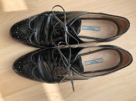 Prada Wingtip Shoes black leather