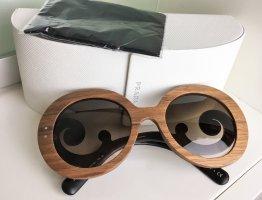 Prada Ronde zonnebril veelkleurig Gemengd weefsel