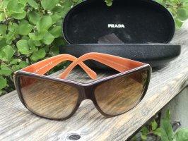 Prada Angular Shaped Sunglasses brown-cognac-coloured