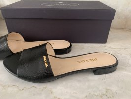 Prada Sabots black leather