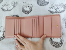 Prada Portemonnaie Rosa aus Leder
