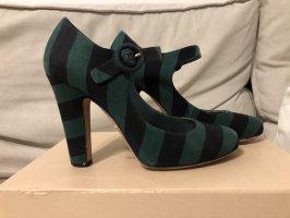Prada Décolleté Mary Jane verde bosco-nero