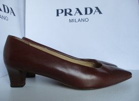 Prada Mary Jane Pumps brown leather