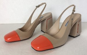 Prada, Pumps, Lackleder, Nude/Orange, neu, € 800,-