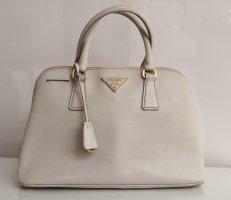 Prada Saffiano Lux Tasche Handtasche Crossbody 35 cm Farbe Talco wie neu