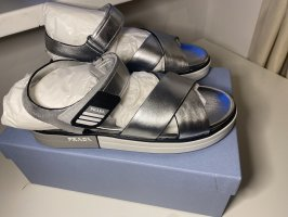 Prada Comfort Sandals silver-colored