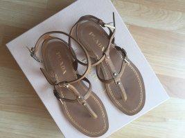 Prada Sandalen beige-braun Größe 36