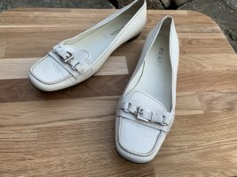 Prada Moccasins natural white leather