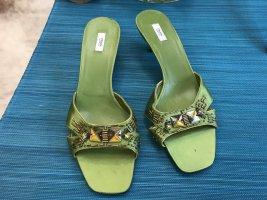Prada Schuhe Pumps Abendschuhe grün 41 ungetragen