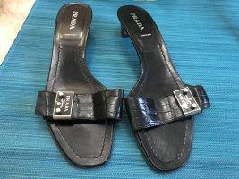 Prada Schuhe Pumps Sandalen schwarz 41