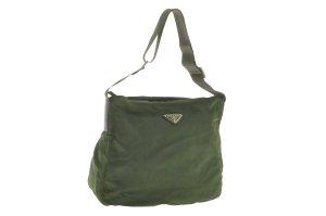 Prada Shoulder Bag khaki cotton