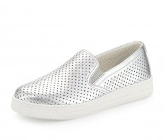 PRADA Slip On Metallic Silver