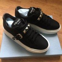 Prada Sneaker slip-on nero-bianco Nylon