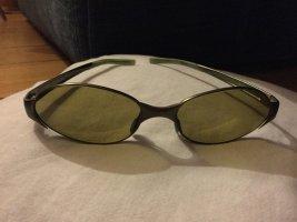 Prada Occhiale da sole ovale grigio-verde