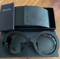 Prada Okrągłe okulary przeciwsłoneczne czarny