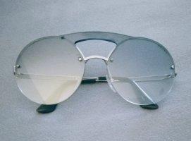 Prada Occhiale da sole rotondo grigio chiaro-grigio