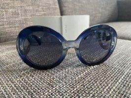 Prada Occhiale da sole rotondo blu scuro