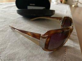 PRADA Sonnenbrille, braun-beige-silber, sehr schick, fast ungetragen im Original Etui