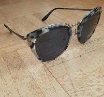 Prada Okulary motylki czarny-srebrny