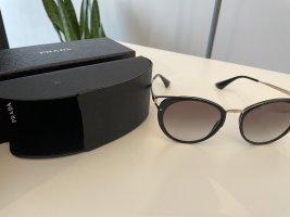 Prada Okrągłe okulary przeciwsłoneczne czarny-złoto
