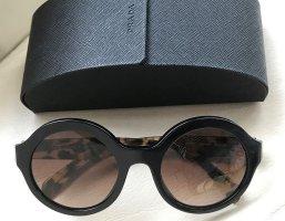 * PRADA * SONNENBRILLE rund oversize schwarz schildplatt braun -Full set -
