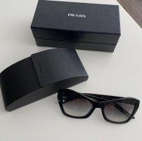 Prada Kwadratowe okulary przeciwsłoneczne czarny