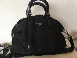 Prada Tadche Shopper Nylon Lackleder