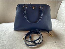 Prada Tasche Leder saffiano Blau 100% Original