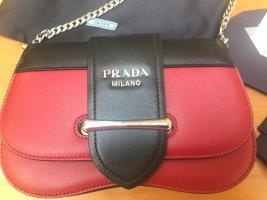"PRADA Tasche ""Sidonie""   rot/schwarz  Leder"