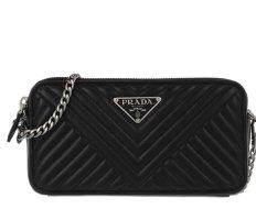 Prada The Diagramme mini Crossbody Bag Leather