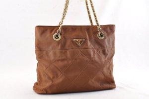 Prada Bolso de compra marrón fibra textil