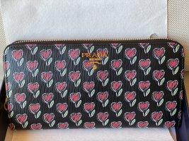 Prada Vitello Move Love Continental Wallet Leather *new*