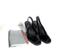 Prada Wedge Sandals in Black