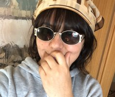 Pradigi Vintage Retro Italian Style Sonnenbrille