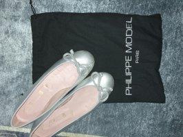 Pretty ballerinas Ballerina's met bandjes zilver