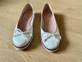 Pretty ballerinas Ballerina di pelle verniciata bianco