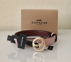 Coach Cintura di pelle multicolore