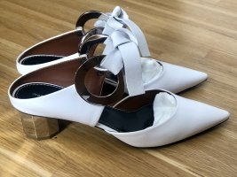 Proenza Schouler Weiße 'Grommet' Mules mit Blockabsatz 37