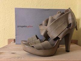 Progretto Glam Leder Pumps/High Heels, 100% Leder, Gr. 38