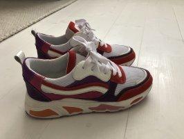 PS Poelman Chunky Sneaker weiß rot lila Gr. 38