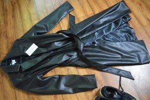 Pu Belted Coat Misslisibell x NA-KD, Black 36 Neu
