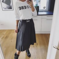 100% Fashion Falda a cuadros negro