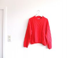 Pull & Bear Pullover Gr. L corall rot orange Strickpullover