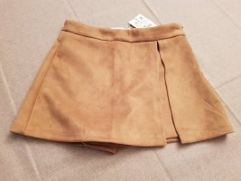Pull & Bear Gonna culotte color cammello-beige