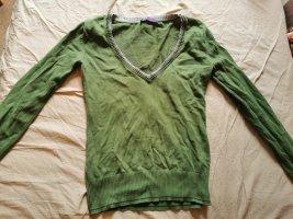 AJC Sweter z dekoltem w kształcie litery V trawiasty