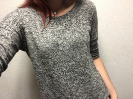 Amisu Short Sleeve Sweater black-grey